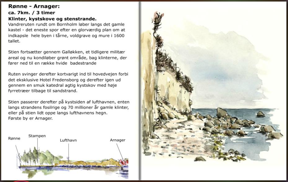 Vandresti mellm Arnager og Rønne. hiking guide by Frits Ahlefeldt