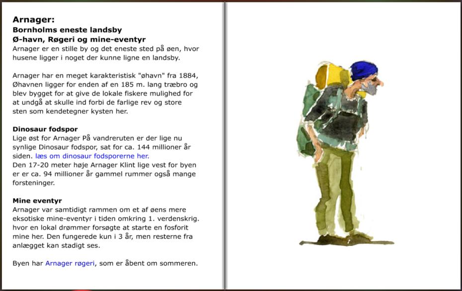 Beskrivelse af Arnager på Sydkysten af Bornholm. hiking guide by Frits Ahlefeldt