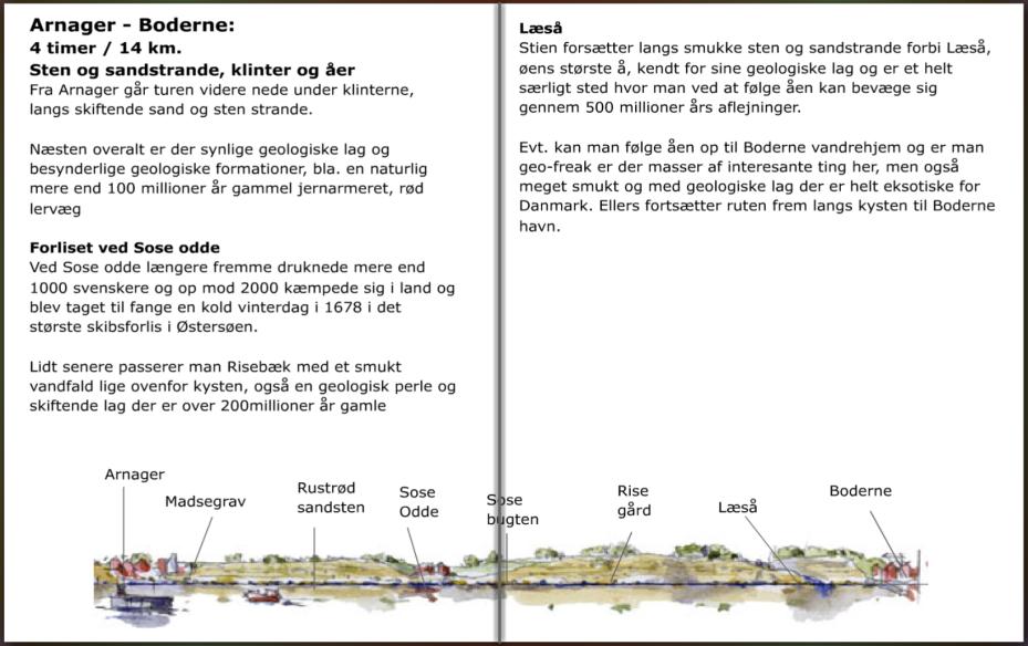 Beskrivelse af stien mellem Arnager og Boderne. hiking guide by Frits Ahlefeldt