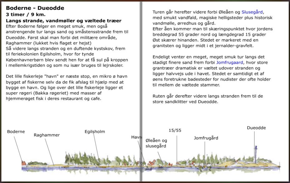 Vandresti info omkring stien mellem Boderne og Dueodde, Bornholm. hiking guide by Frits Ahlefeldt