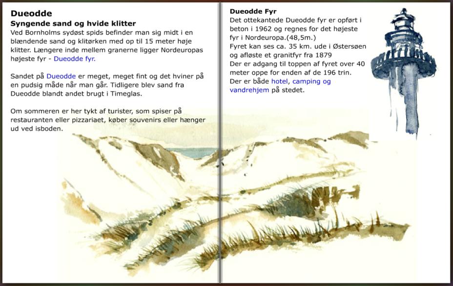 Dueodde oplysninger, til Bornholm til fods guide. hiking guide by Frits Ahlefeldt