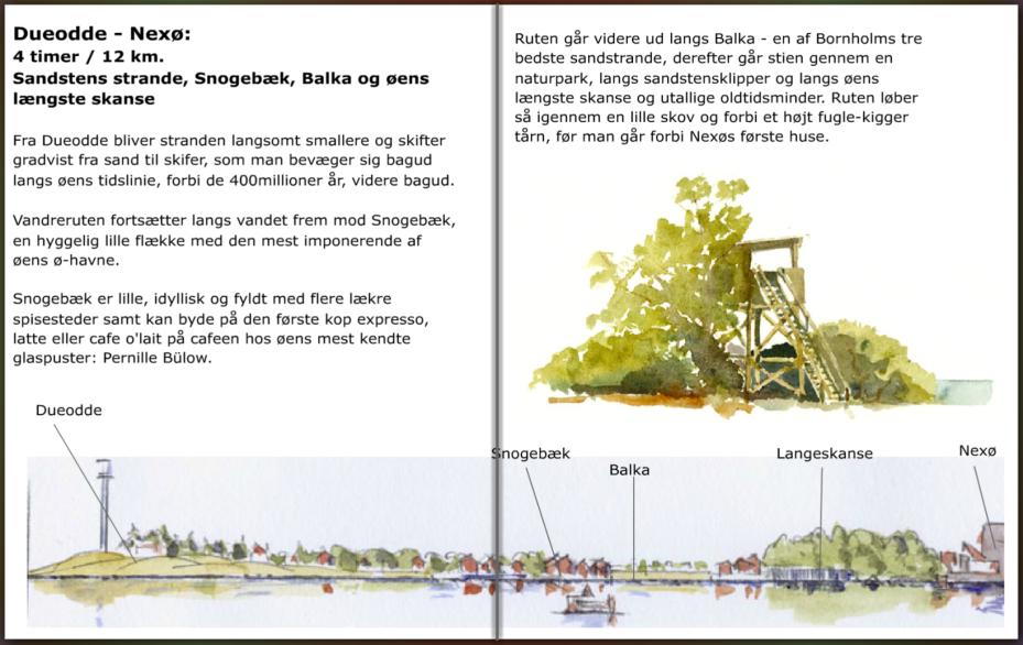 Info om stien mellem Nexø og Dueodde, på Bornholm, hiking guide by Frits Ahlefeldt