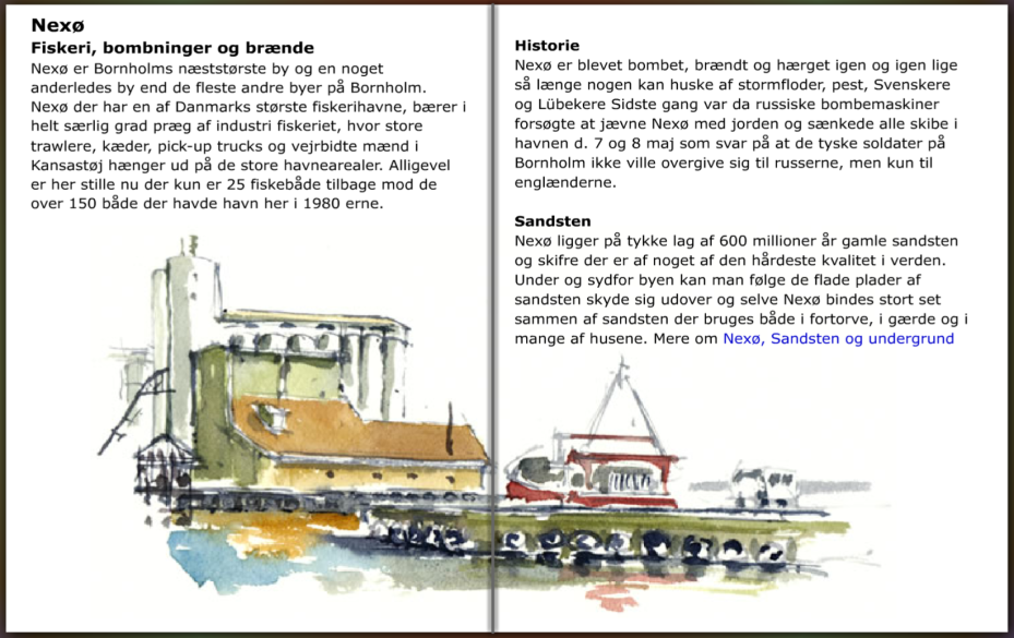 info om Nexø på Bornholm, hiking guide by Frits Ahlefeldt