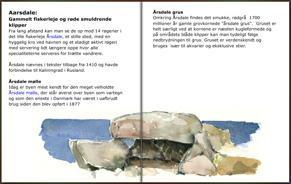 info om fiskerlejet Aarsdale på Bornholm, hiking guide by Frits Ahlefeldt