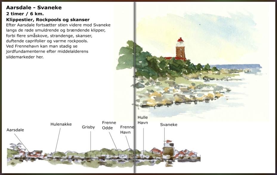 Aarsdale - Svaneke - sti Bornholm info, hiking guide by Frits Ahlefeldt