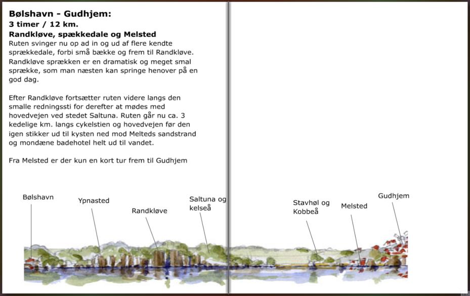 Stien mellem Bolshavn og Gudhjem på Bornholm, hiking guide by Frits Ahlefeldt
