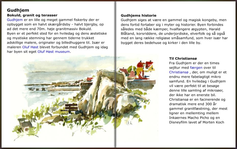 info om Gudhjem, hiking guide by Frits Ahlefeldt