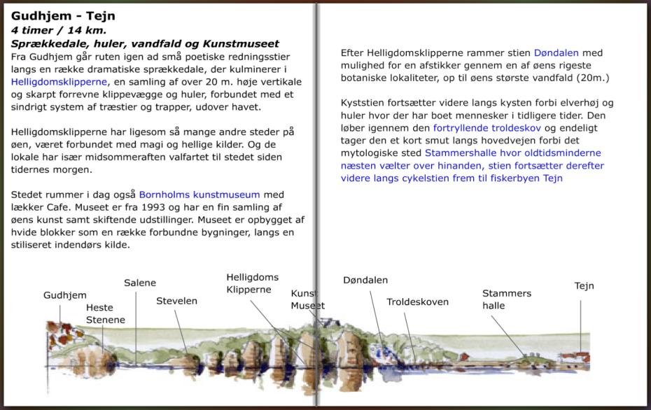 Gudhjem tejn sti, info, hiking guide by Frits Ahlefeldt