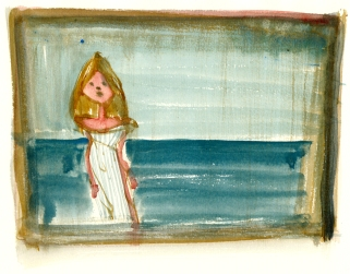 girl-by-water-bornholm-watercolor-by-frits-ahlefeldt